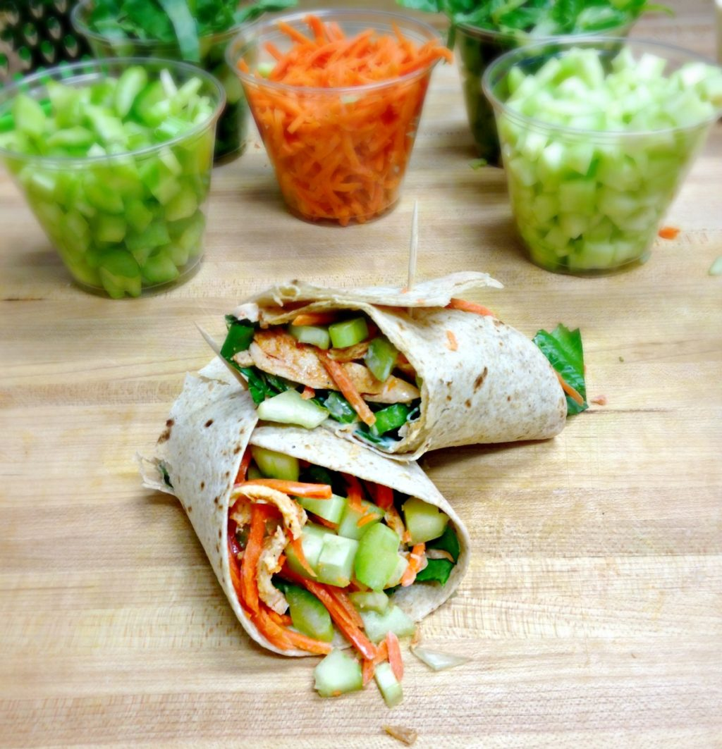 how to make a healthy chicken wrap