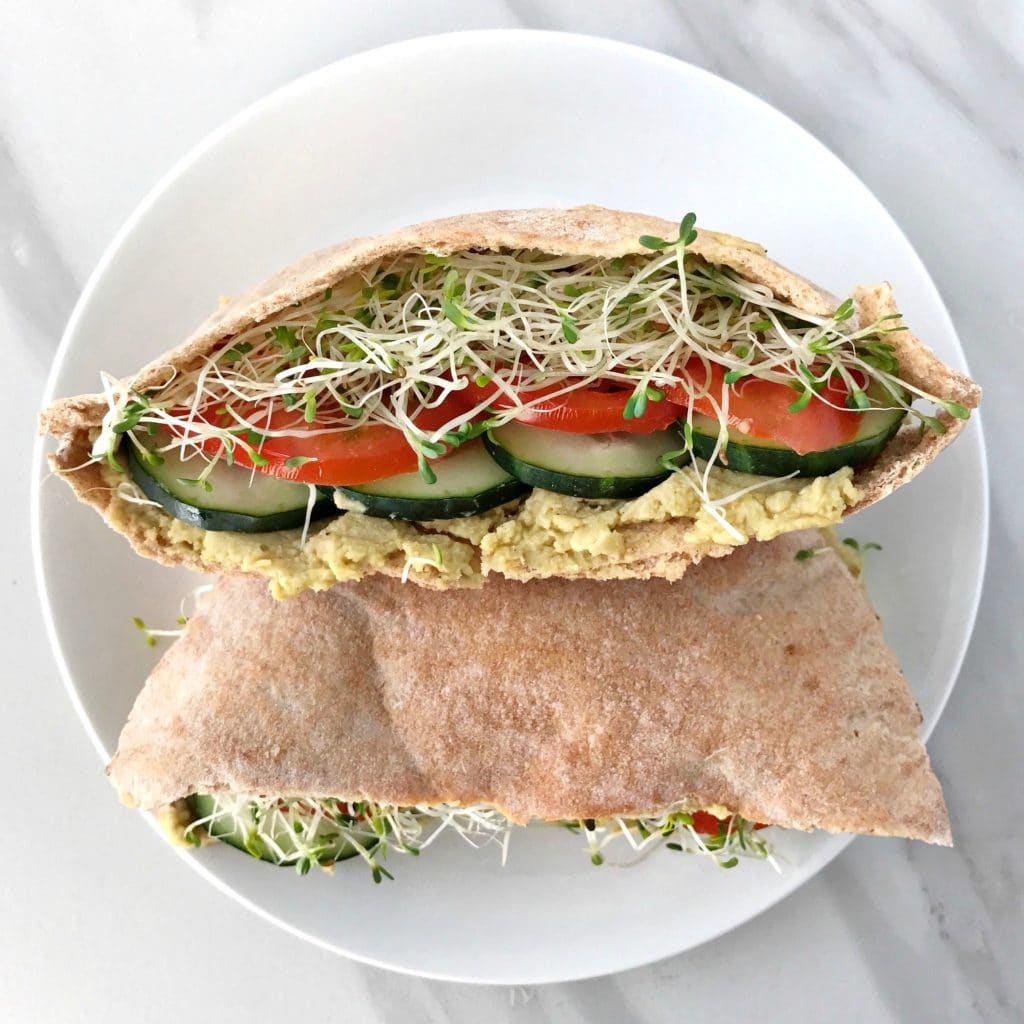 Veggie Pita Sandwiches with Avocado Hummus - Your Choice ...